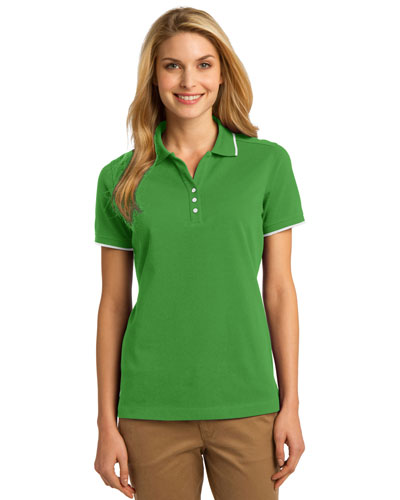Port Authority L454 Women Rapid Dry Tipped Polo at GotApparel