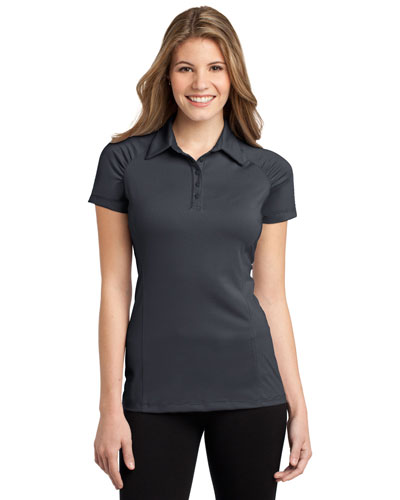 Port Authority L558 Women Fine Stripe Performance Polo at GotApparel