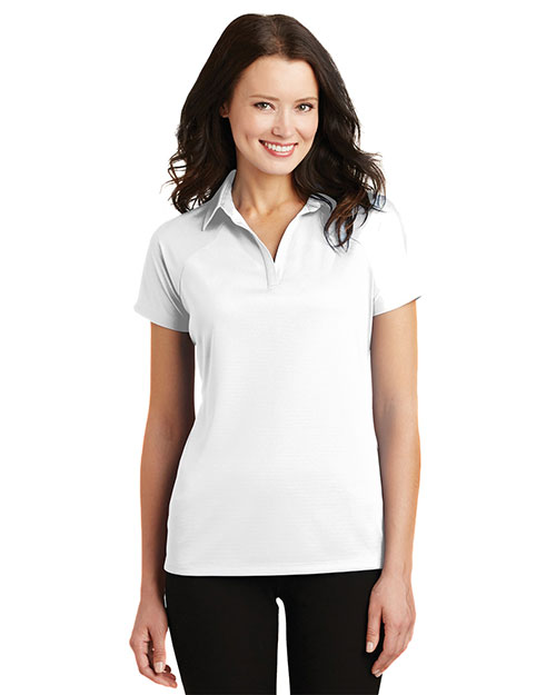 Port Authority L575 Women Crossover Raglan Polo at GotApparel