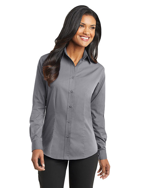 Port Authority L613 Women Tonal Pattern Easy Care Shirt at GotApparel
