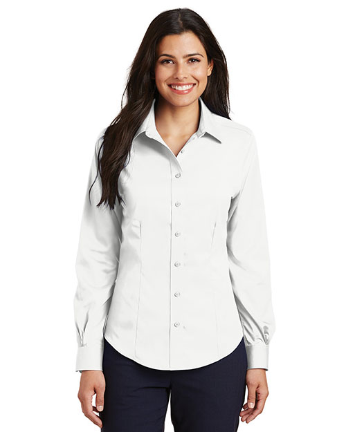 Port Authority L638 Women Long-Sleeve Non-Iron Twill Shirt at GotApparel
