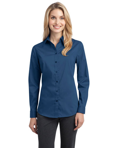 Port Authority L646 Women Stretch Poplin Shirt at GotApparel