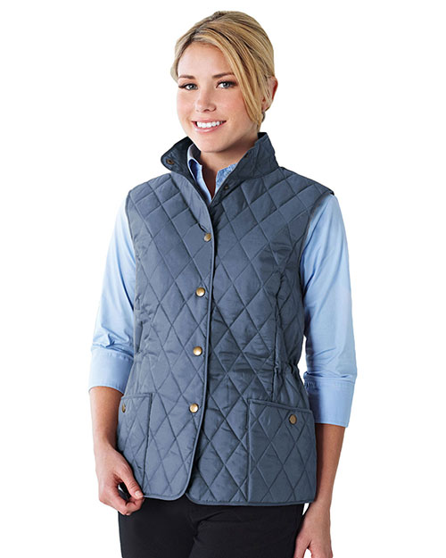 LILAC BLOOM LB8221 Women Bailey Woven Quilted Sleeveless Jacket at GotApparel