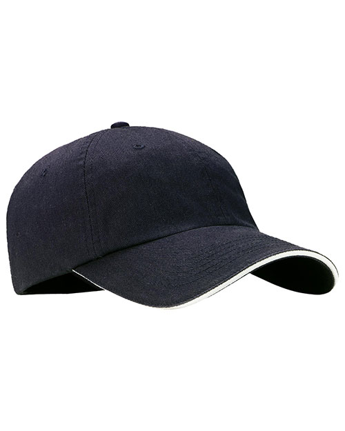 Port Authority C830 Men Sandwich Bill Cap with Striped Closure at GotApparel