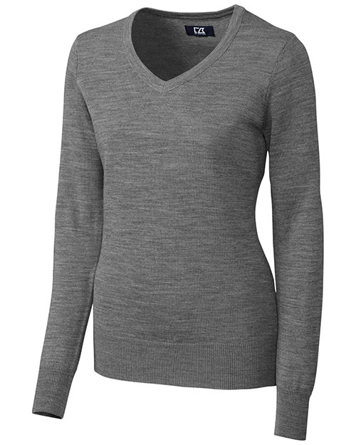 Cutter & Buck LCS04774 Women Long-Sleeve Douglas V-Neck at GotApparel
