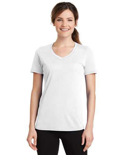 Port & Company LPC381V Women Essential Blended Performance V-Neck Tee at GotApparel
