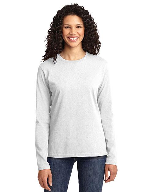 Port & Company LPC54LS Women Long-Sleeve 100% Cotton T-Shirt at GotApparel