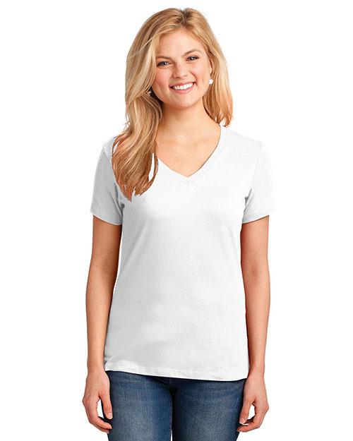 Port & Company LPC54V Women 5.4 Oz 100% Cotton V-Neck T-Shirt at GotApparel