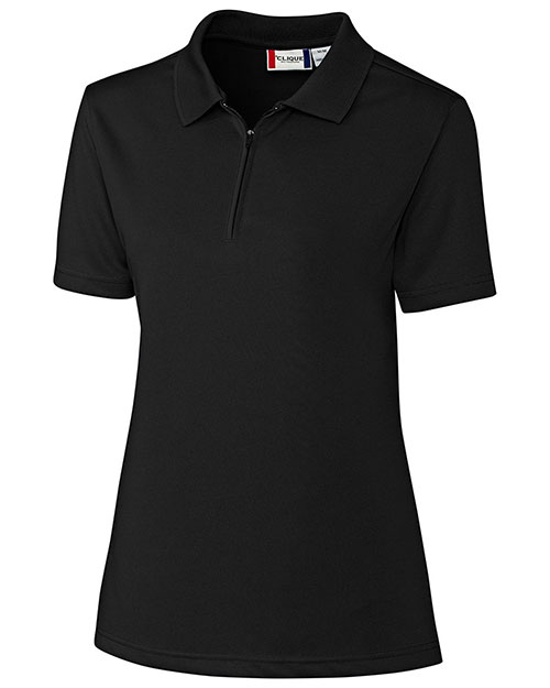Clique New Wave LQK00056 Women Malmo Snag Proof Zip Polo shirt at GotApparel