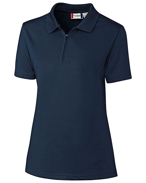 Clique New Wave LQK00056 Women Malmo Snag Proof Zip Polo shirt at GotApparel