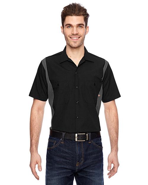 Dickies Workwear LS524 Men Industrial Colorblock Shirt at GotApparel