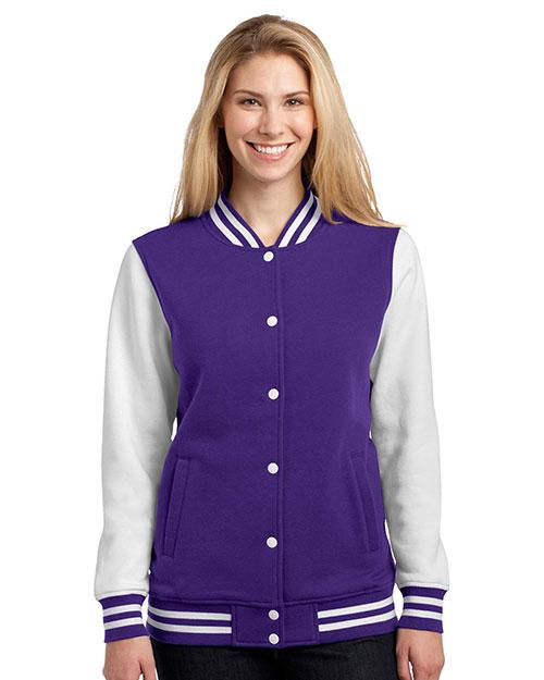 Sport-Tek® LST270 Women Fleece Letterman Jacket at GotApparel