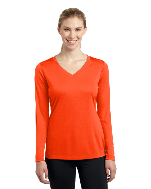 Sport-Tek® LST353LS Women Long-Sleeve V-Neck PosiCharge®  Competitor  Tee at GotApparel