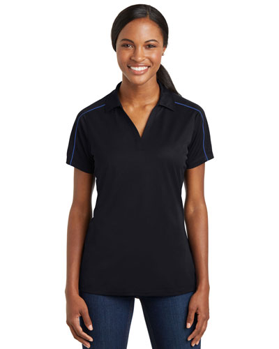 Sport-Tek® LST653 Women Micro Pique Sport-Wick Piped Polo at GotApparel