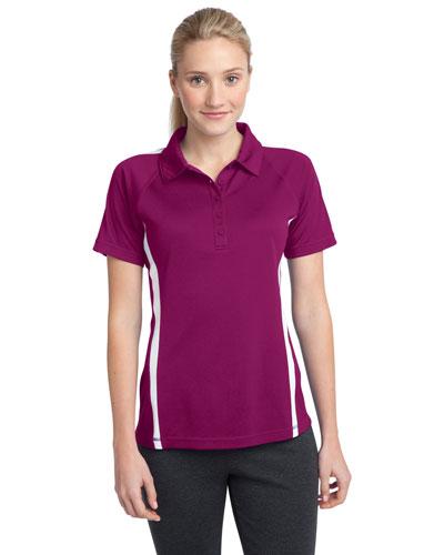 Sport-Tek® LST685 Women PosiCharge®   Micromesh Colorblock Polo at GotApparel