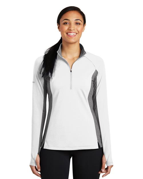 Sport-Tek® LST854 Women Sport-Wick Stretch Contrast 1/2-Zip Pullover  at GotApparel