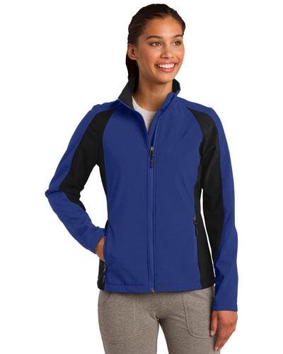 Sport-Tek® LST970 Women Colorblock Soft Shell Jacket at GotApparel