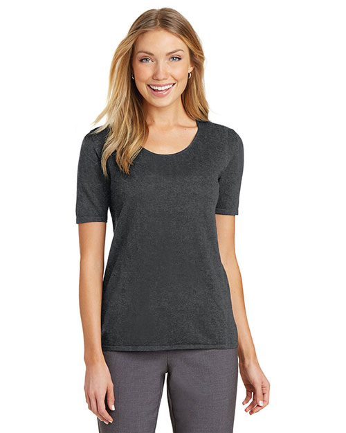 Port Authority LSW291 Women Scoop Neck Sweater at GotApparel