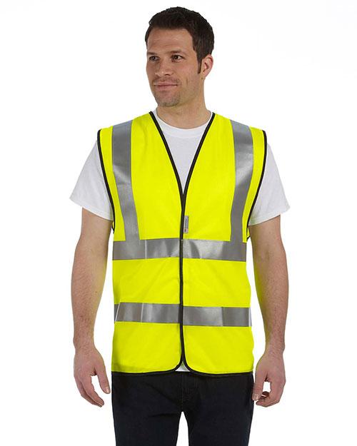 OccuNomix LUXSSF Men Premium Solid Dual Stripe Vest, Class 2 at GotApparel