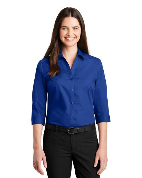 Port Authority LW102 Women Carefree Poplin Shirt      at GotApparel