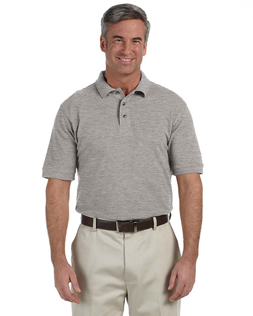 Harriton M200T Men Tall 6 Oz. Ringspun Cotton Pique Short-Sleeve Polo at GotApparel