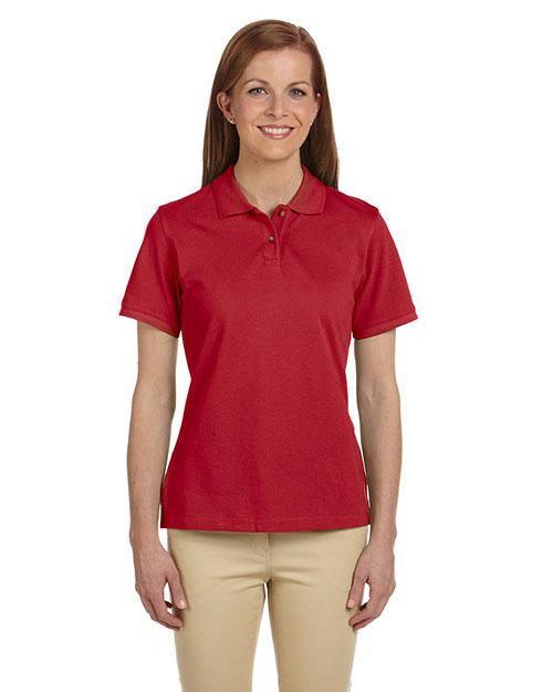 Harriton M200W Women 6 Oz. Ringspun Cotton Pique Short-Sleeve Polo at GotApparel