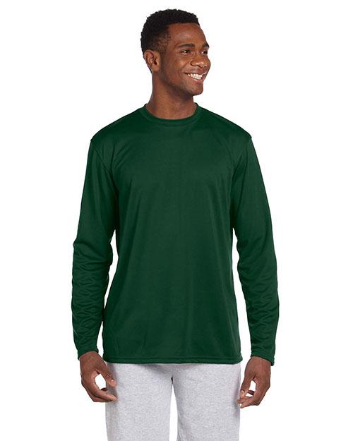 Harriton M320L Men 4.2 Oz. Athletic Sport Long-Sleeve T-Shirt at GotApparel