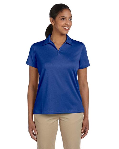 Harriton M353W Women Double Mesh Sport Shirt at GotApparel