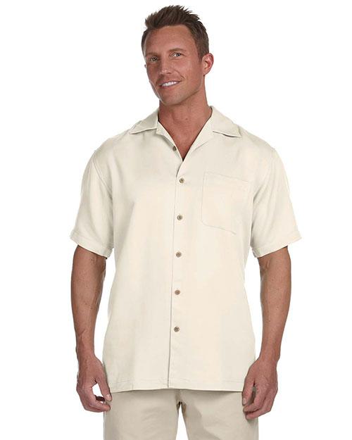 Harriton M570 Men Bahama Cord Camp Shirt at GotApparel