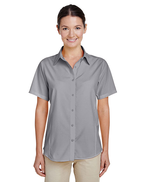 Harriton M610SW Women Paradise Short-Sleeve Performance Shirt at GotApparel