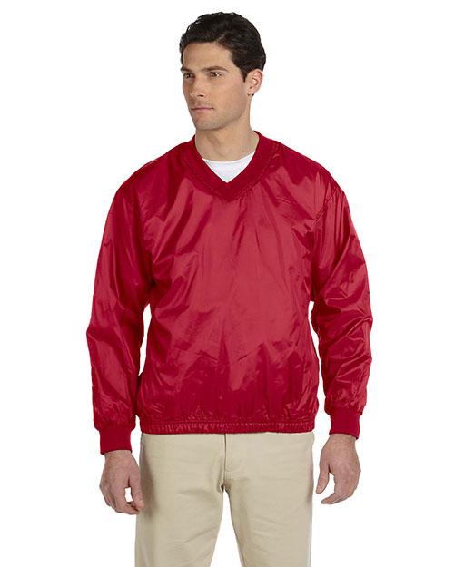 Harriton M720 Men Athletic V-Neck Pullover Jacket at GotApparel