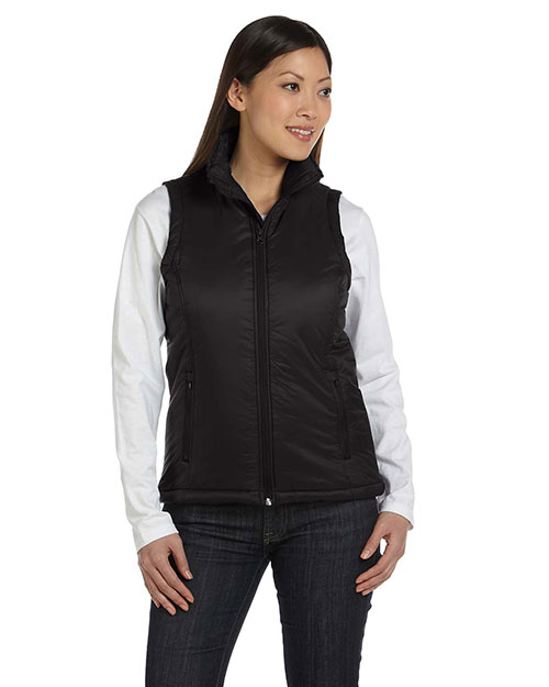 Harriton M795W Women Essential Polyfill Vest at GotApparel