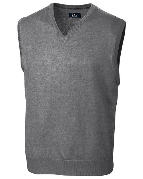 Cutter & Buck MCS01432 Men Douglas V-Neck Vest at GotApparel