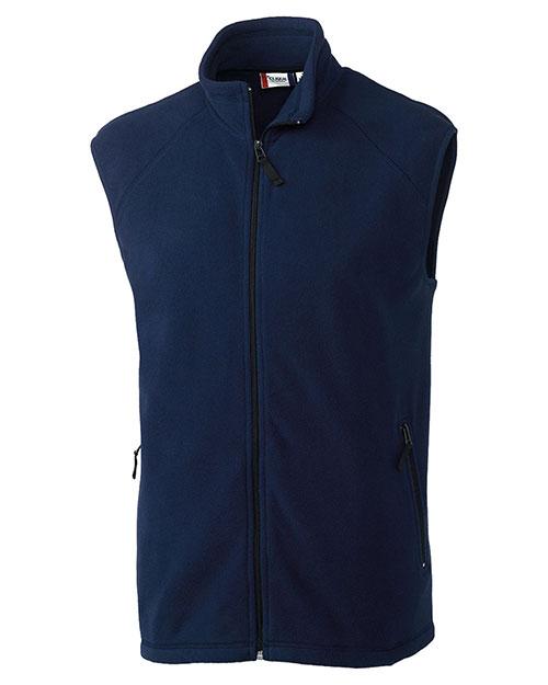 Clique New Wave MQO00026 Men Summit Full-Zip Microfleece Vest at GotApparel