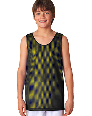 A4 Drop Ship N2206 Boys Reversible Mesh Tank Shirt at GotApparel