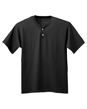 A4 N3143 Adult Tek 2-Button Henley Jersey at GotApparel
