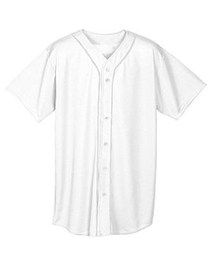 A4 N4184 Men Short-Sleeve Full Button Baseball Top at GotApparel