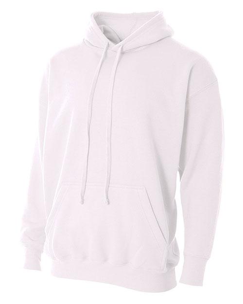 A4 N4231 Men Combed Ringspun Blended Cvc Fleece Hooded Sweatshirt at GotApparel