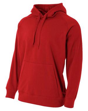 A4 N4237 Men Solid Tech Fleece Hoodie at GotApparel