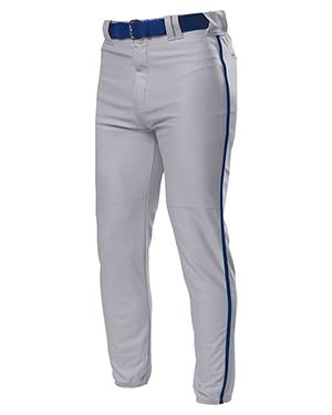 A4 Drop Ship N6178 Men Pro Style Elastic Bottom Baseball Pants at GotApparel