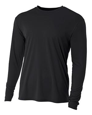 A4 NB3165 Boys Long-Sleeve Cooling Performance Crew Shirt at GotApparel