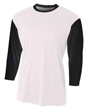 A4 NB3294 Boys 3/4-Sleeve Utility Shirt at GotApparel