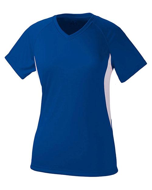 A4 Drop Ship NW3223 Women Color Block Performance V-Neck Shirt at GotApparel