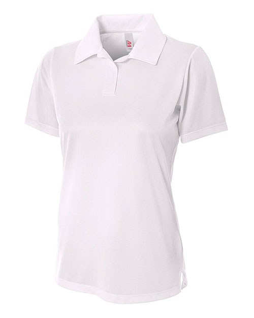 A4 Drop Ship NW3265 Women Textured Polo Shirt With Johnny Collar at GotApparel