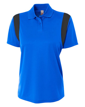 A4 NW3266 Women Color Block Polo with Knit Collar at GotApparel