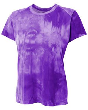 A4 NW3295 Women Cloud Dye Tech Tee at GotApparel