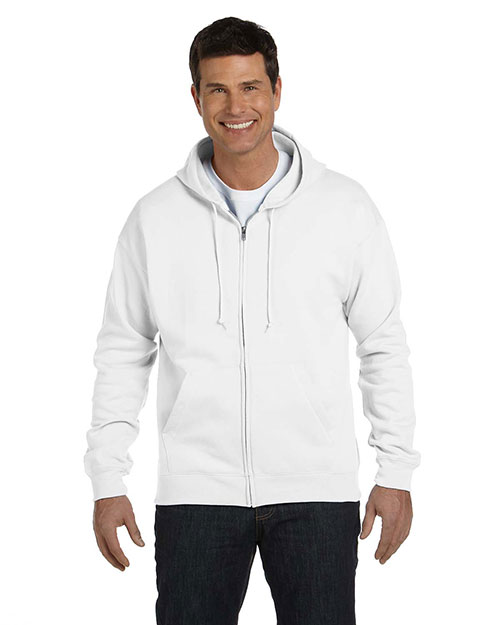 Hanes P180 Men 7.8 Oz. Comfort Blend Ecosmart 50/50 Full-Zip Hood at GotApparel