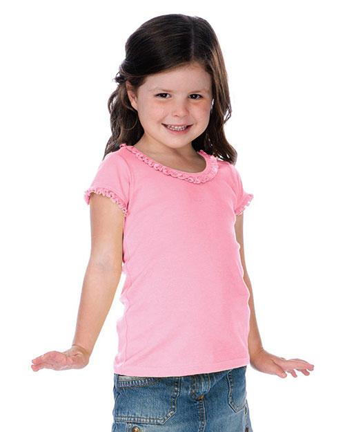 Little Girls 3-6X Sunflower Short Sleeve Top at GotApparel