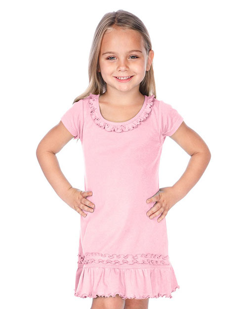 Little Girls 3-6X Sunflower Short Sleeve Dress at GotApparel