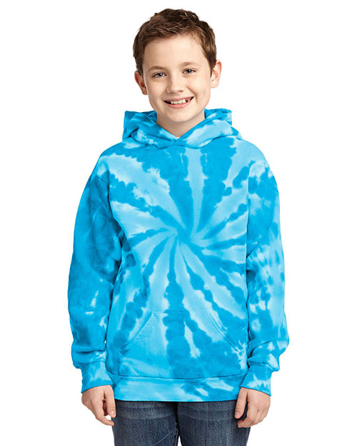 Port & Company PC146Y Boys Essential Tie-Dye Pullover Hooded Sweatshirt at GotApparel